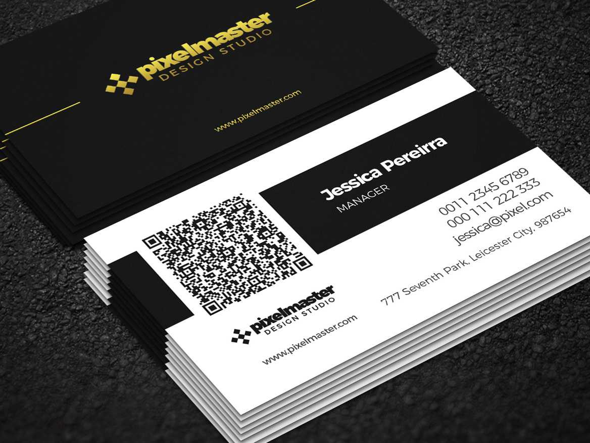 Simple Business Card With Qr Codenisa Toon On Dribbble Pertaining To Qr Code Business Card Template