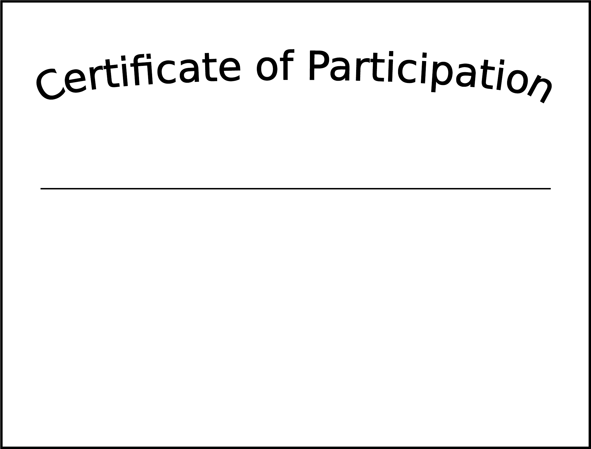 Simple Participation Certificate Template Free Download With Regard To Participation Certificate Templates Free Download