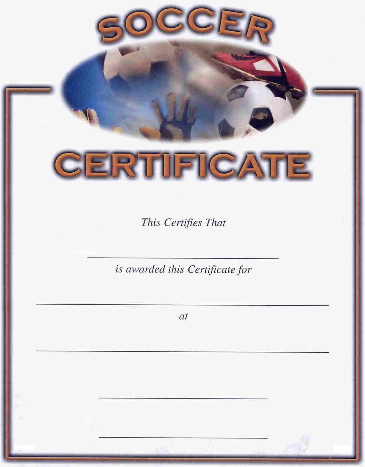 Soccer Award Certificates | Activity Shelter For Track And Field Certificate Templates Free