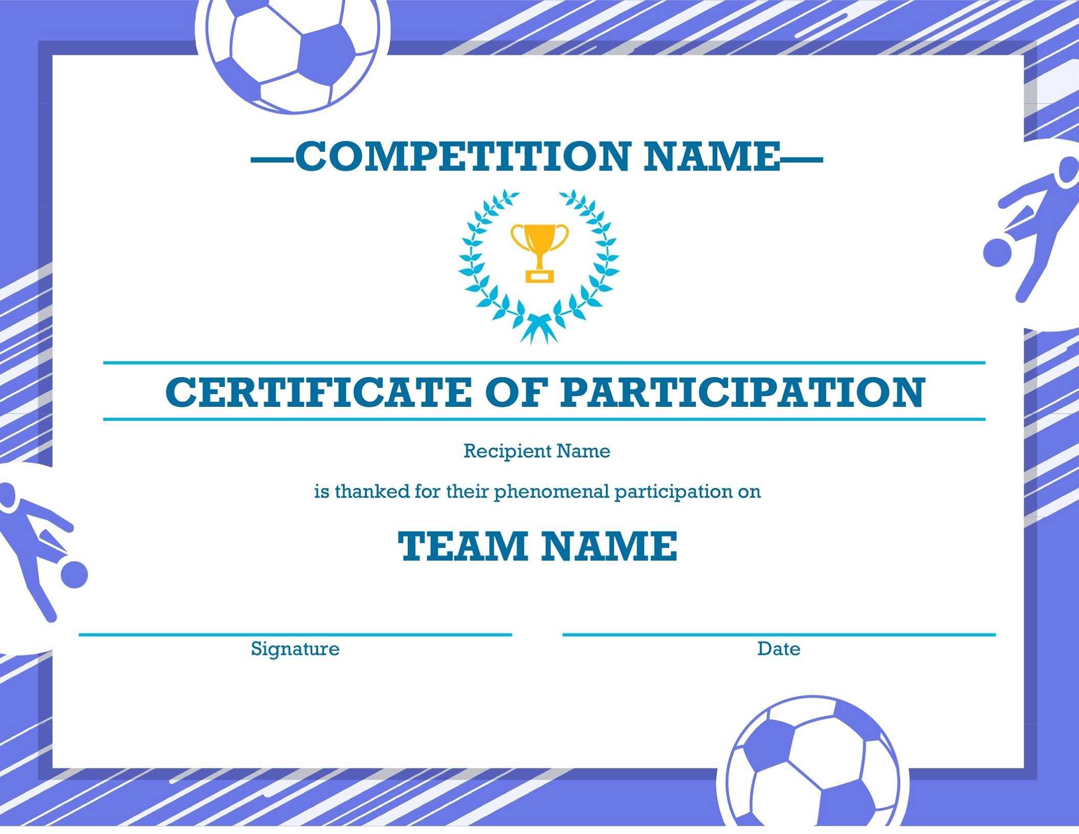 Soccer Award Certificates – Kids Learning Activity With Regard To Soccer Award Certificate Template