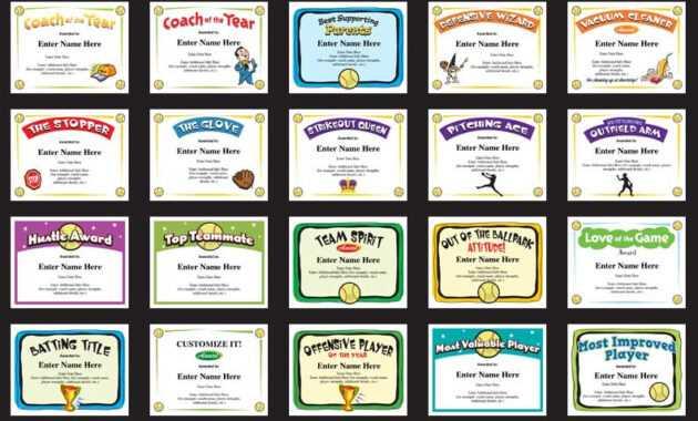 Softball Certificates - Free Award Certificates intended for Softball Certificate Templates