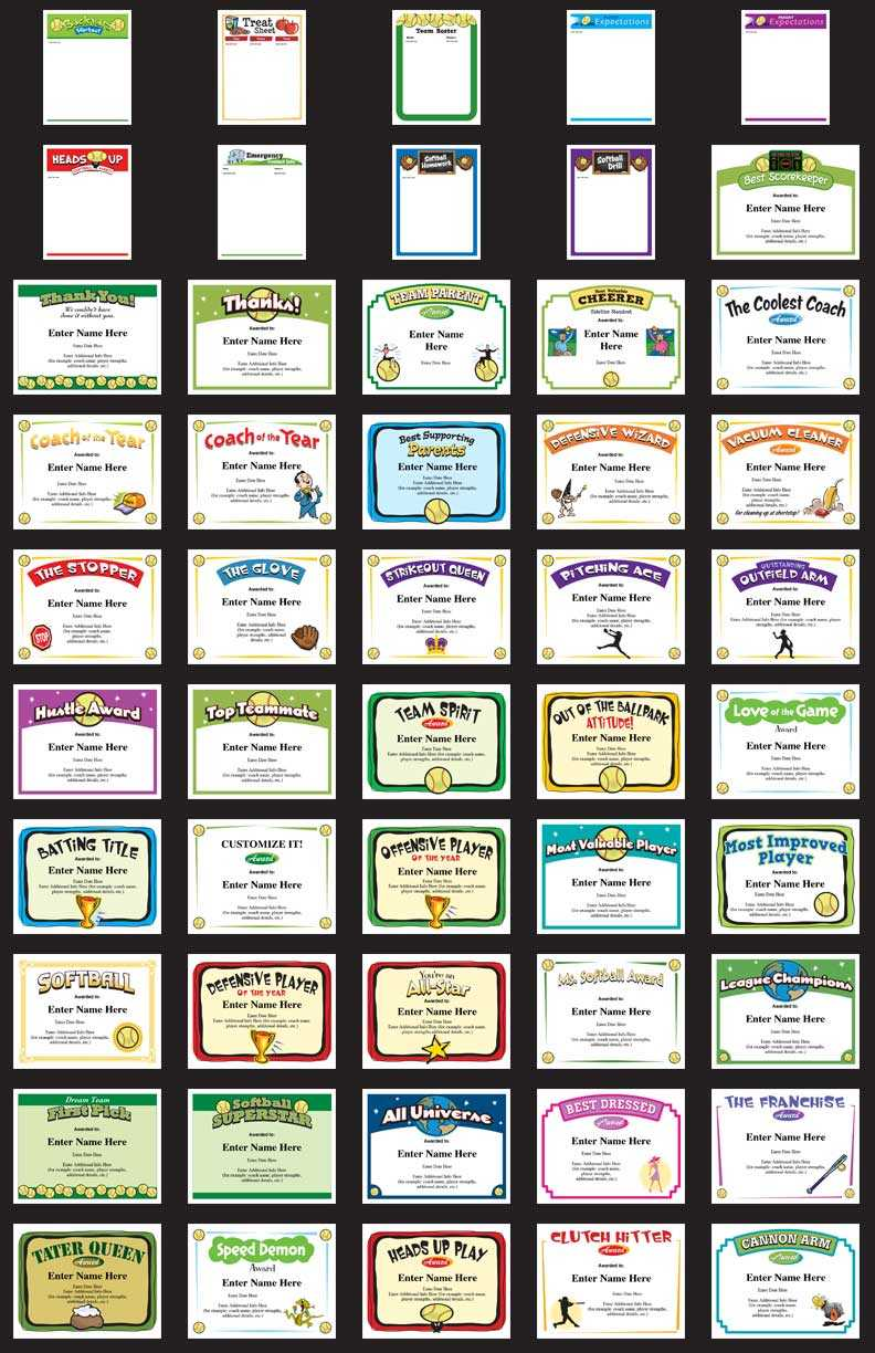 Softball Certificates – Free Award Certificates With Sports Award Certificate Template Word