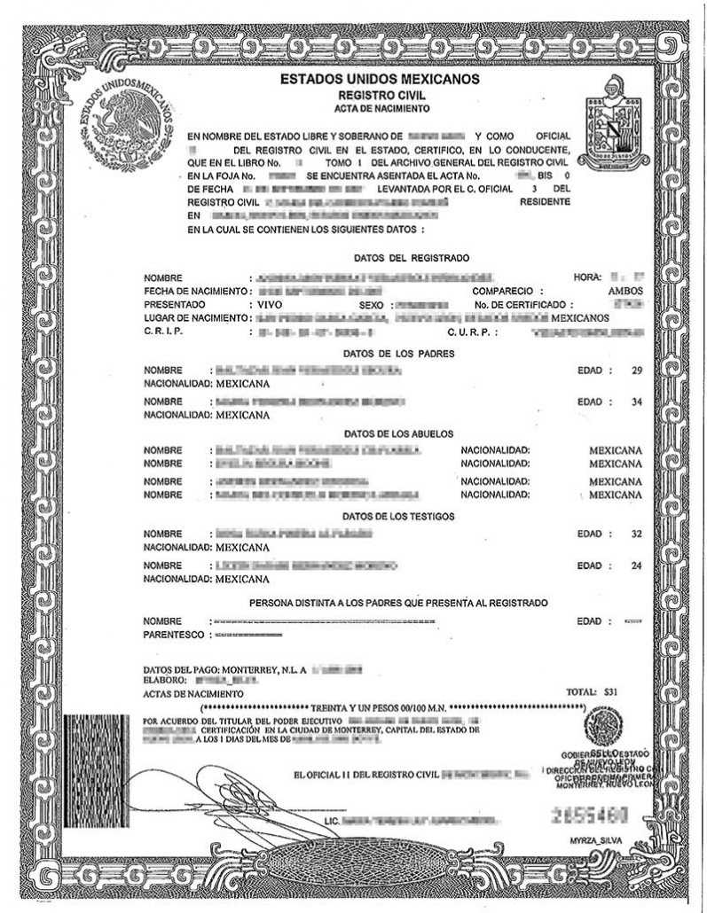 Spanish Birth Certificate Translation | Burg Translations Pertaining To Spanish To English Birth Certificate Translation Template