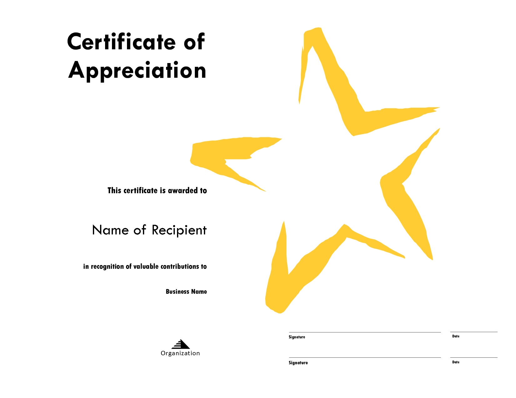 Star Award Certificate Templates Free Image In Star Certificate Templates Free
