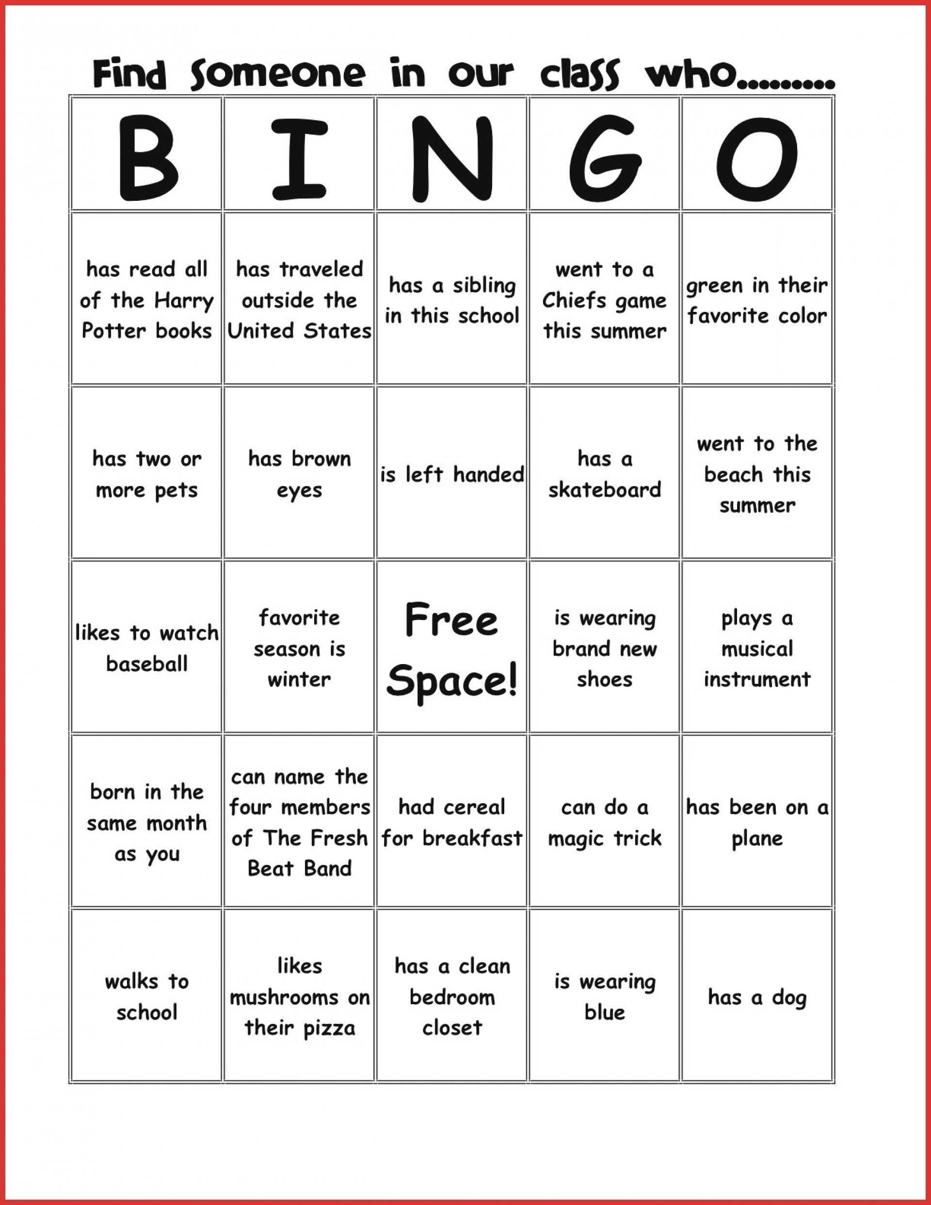 Stirring Blank Bingo Card Template Ideas Cards Print Free Throughout Ice Breaker Bingo Card Template