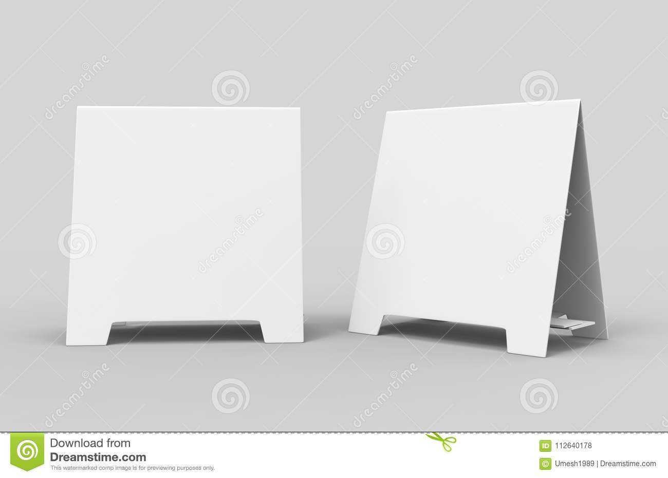 Tablet Tent Card Talkers Promotional Menu Card White Blank With Regard To Blank Tent Card Template