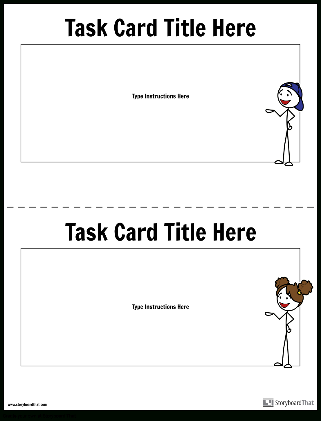 Task Card Template | Task Card Maker Throughout Task Cards Template