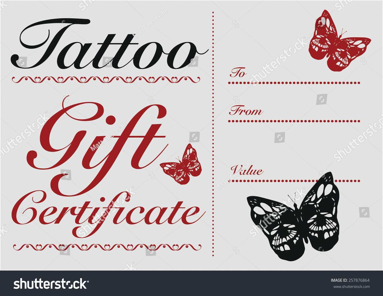 Tattoo Gift Certificate Template Free In Tattoo Gift Certificate Template