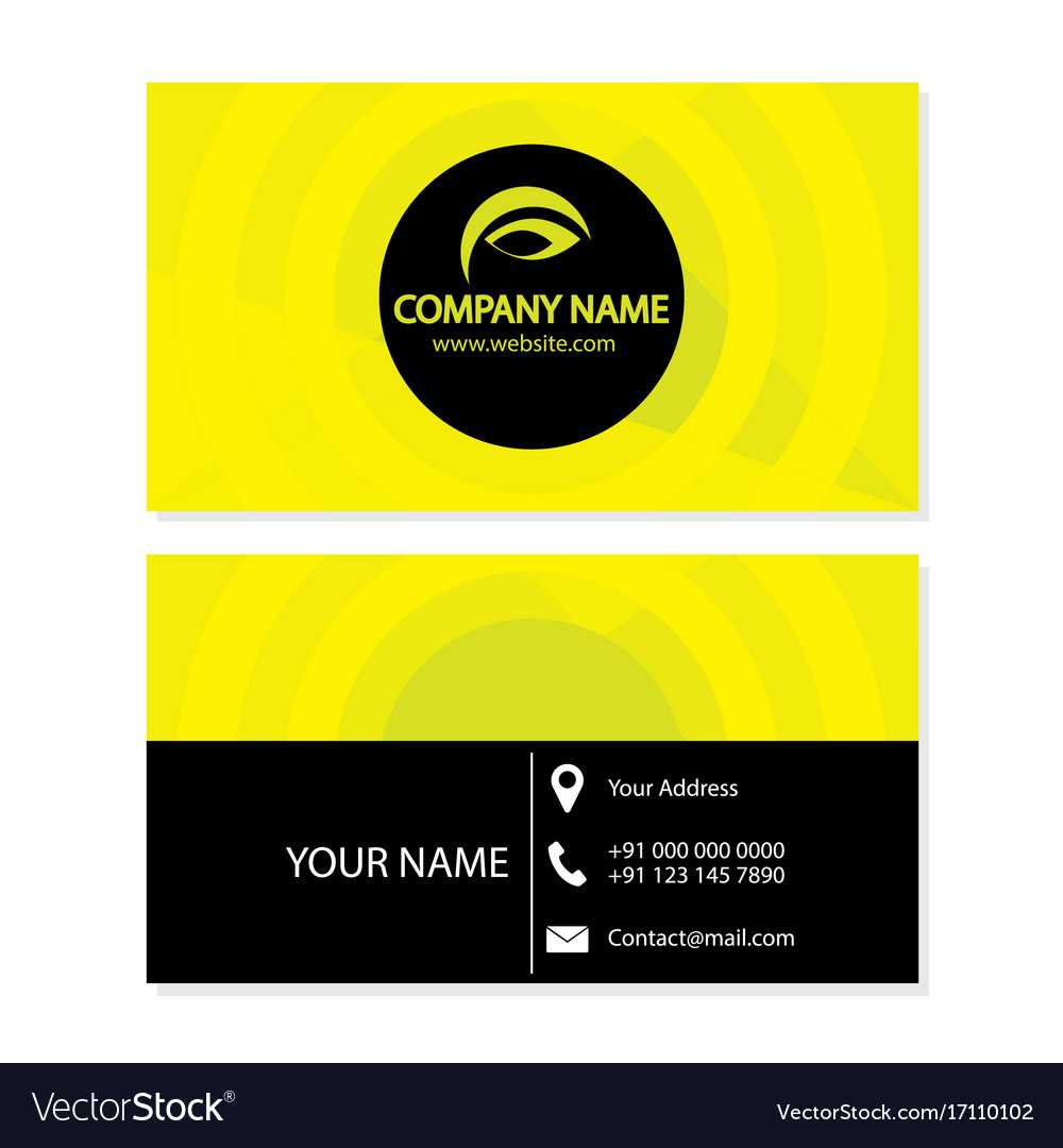 Template Layout For Business Card Within Template For Calling Card