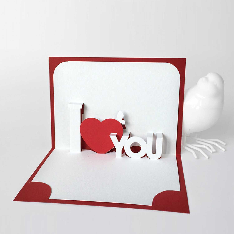 Template Pop Up Card «I Love You» Inside I Love You Pop Up Card Template