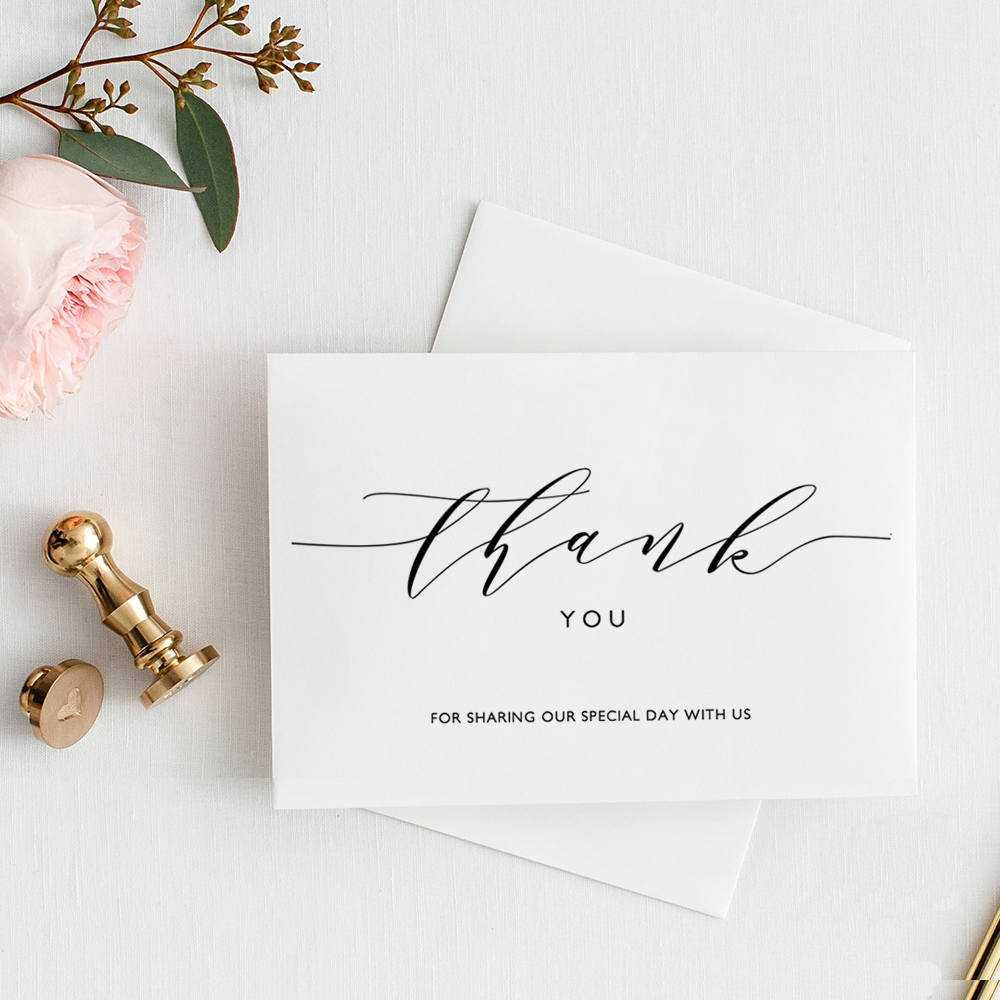 Thank You Card Printable Template, Folded Thank You Card Inside Thank You Card Template Word