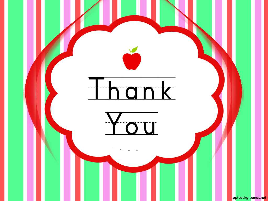 Thank You Cards For Teachers Backgrounds For Powerpoint In Powerpoint Thank You Card Template
