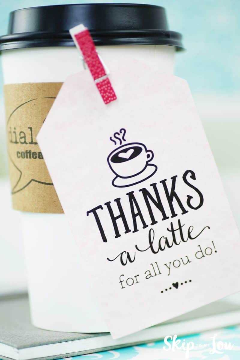 Thanks A Latte! Free Printable Gift Tags | Skip To My Lou In Thanks A Latte Card Template
