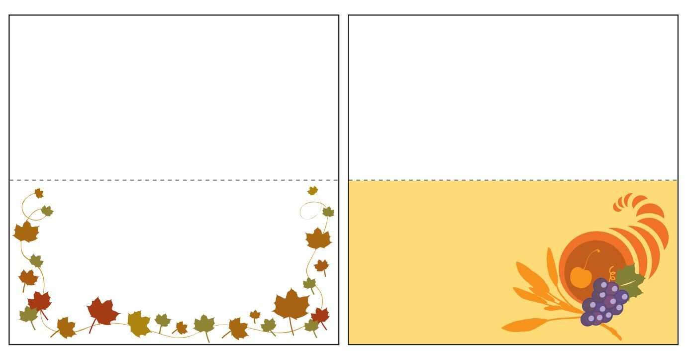 Thanksgiving Place Card Templates Gallery - Free Templates Ideas Inside Thanksgiving Place Cards Template