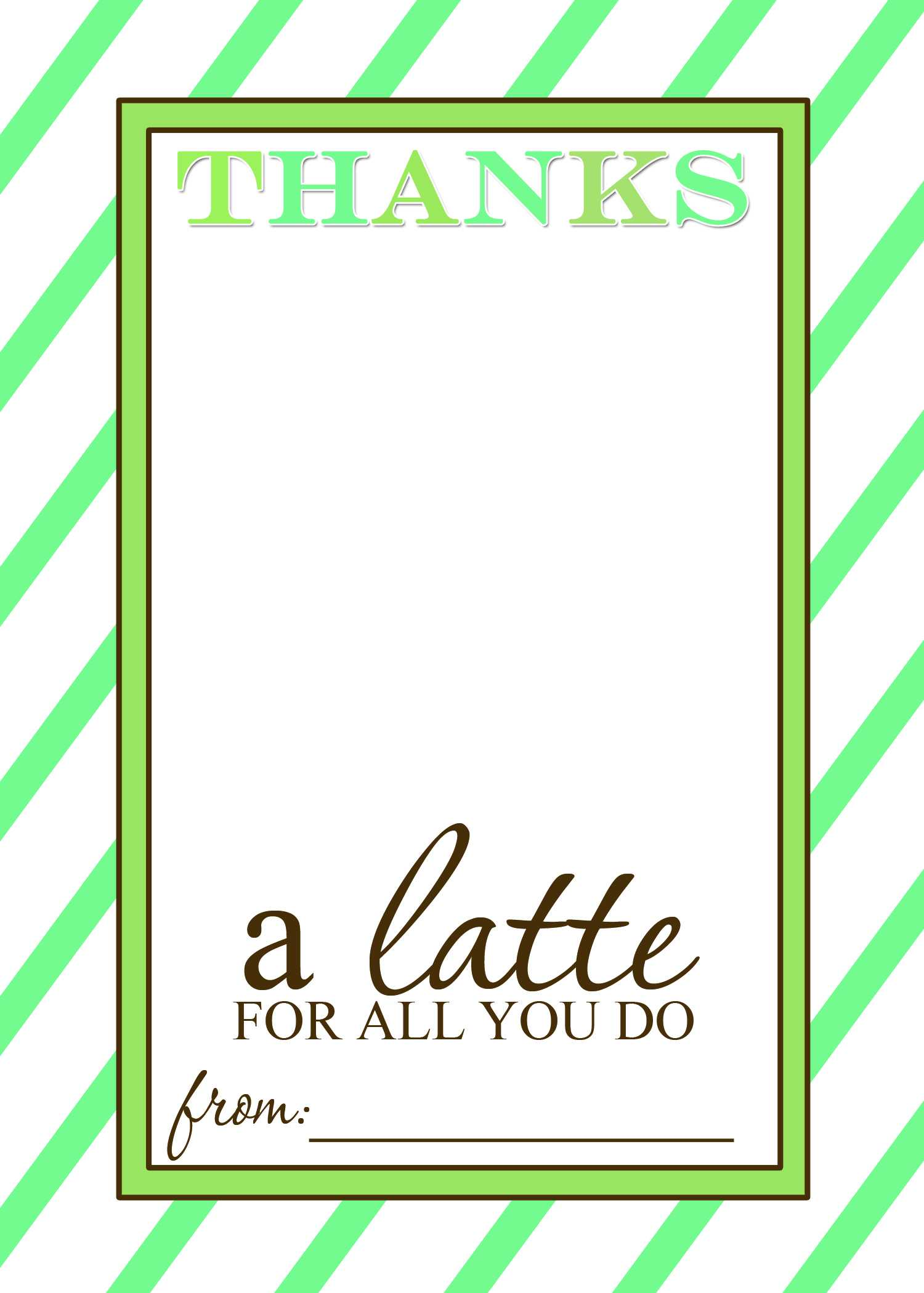 That's Country Living With Regard To Thanks A Latte Card Template