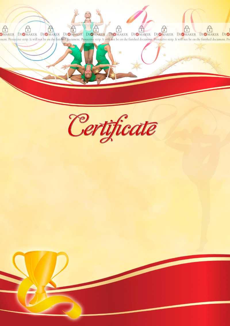 The Certificate Template «Rhythmic Gymnastics» - Dimaker Intended For Gymnastics Certificate Template