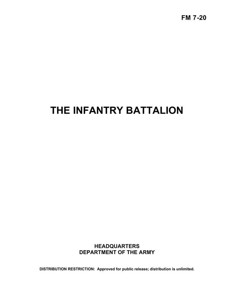 The Infantry Battalion Fm 7 20   Manualzz For Usmc Meal Card Template