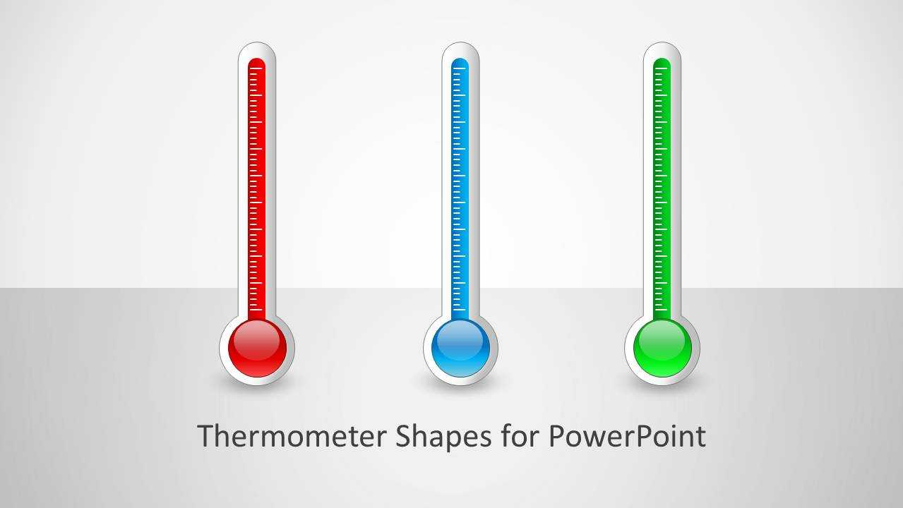 Thermometer Shapes For Powerpoint Pertaining To Powerpoint Thermometer Template