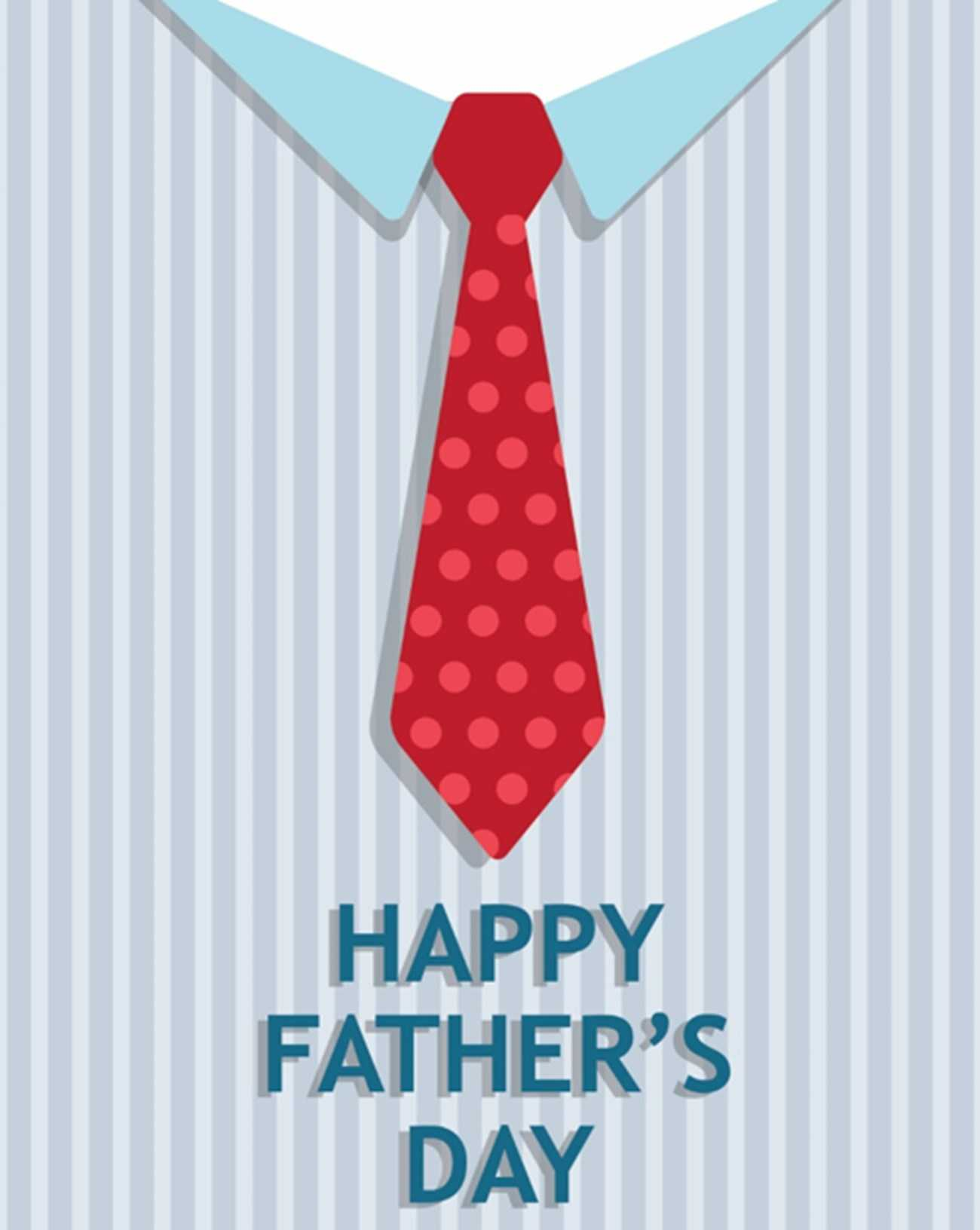 Tie Father's Day Card (Quarter Fold) In Quarter Fold Birthday Card Template