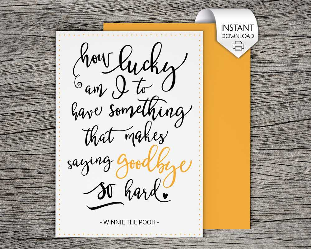 Top Printable Good Bye Cards | Graham Website With Regard To Goodbye Card Template