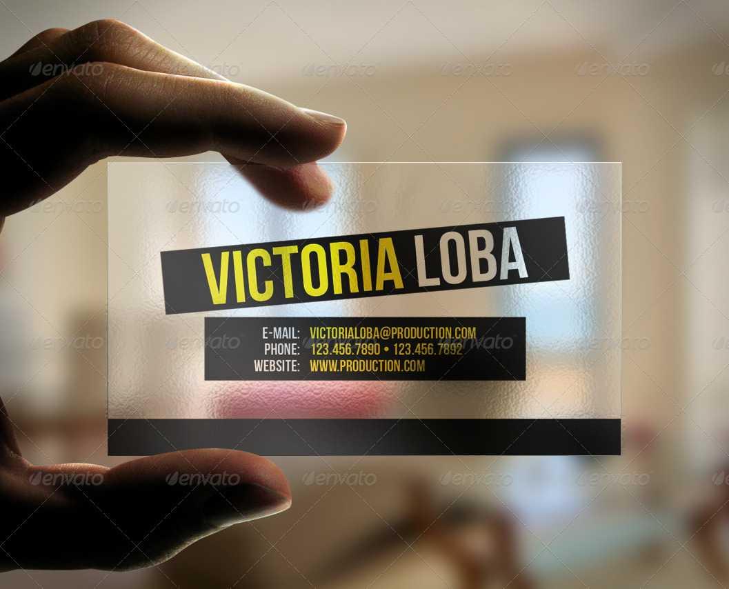 Transparent Business Card Templates & Designs From Graphicriver Regarding Transparent Business Cards Template