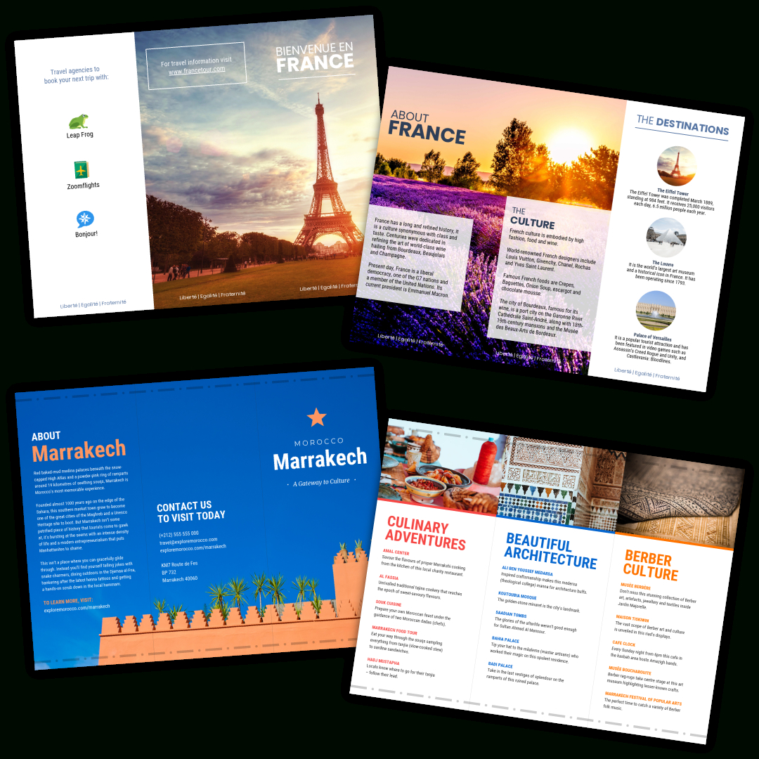Travel Brochure Templates - Make A Travel Brochure - Venngage For Travel Guide Brochure Template