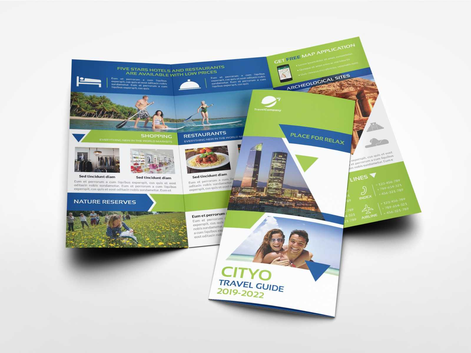 Travel Guide Tri Fold Brochure Templateowpictures On Inside Travel Guide Brochure Template