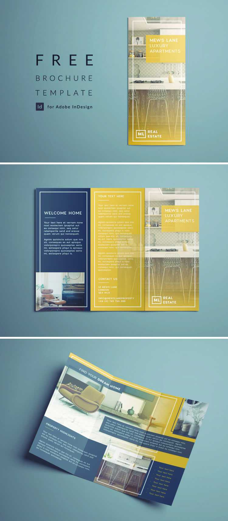 Tri Fold Brochure | Free Indesign Template With Z Fold Brochure Template Indesign