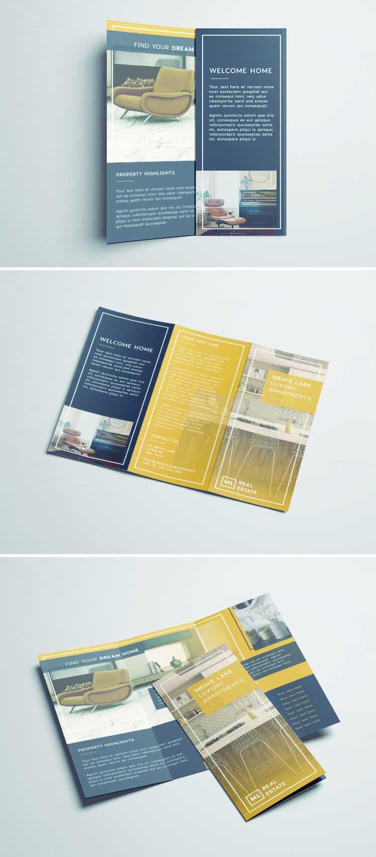 Tri Fold Brochure | Free Indesign Template Within Adobe Indesign Tri Fold Brochure Template