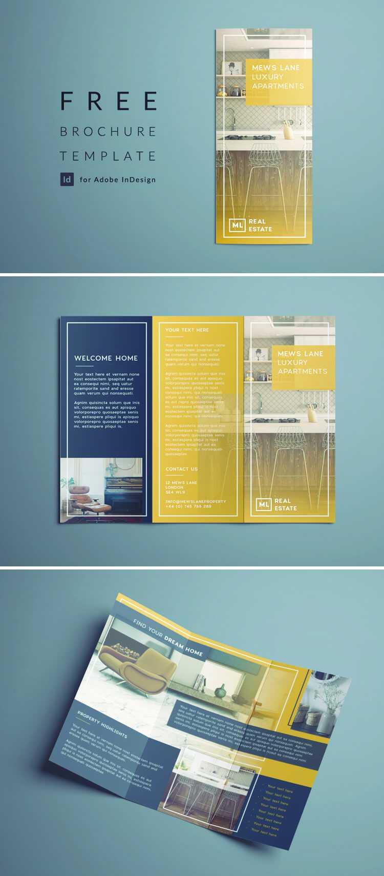 Tri Fold Brochure | Free Indesign Template Within Tri Fold Brochure Template Indesign Free Download