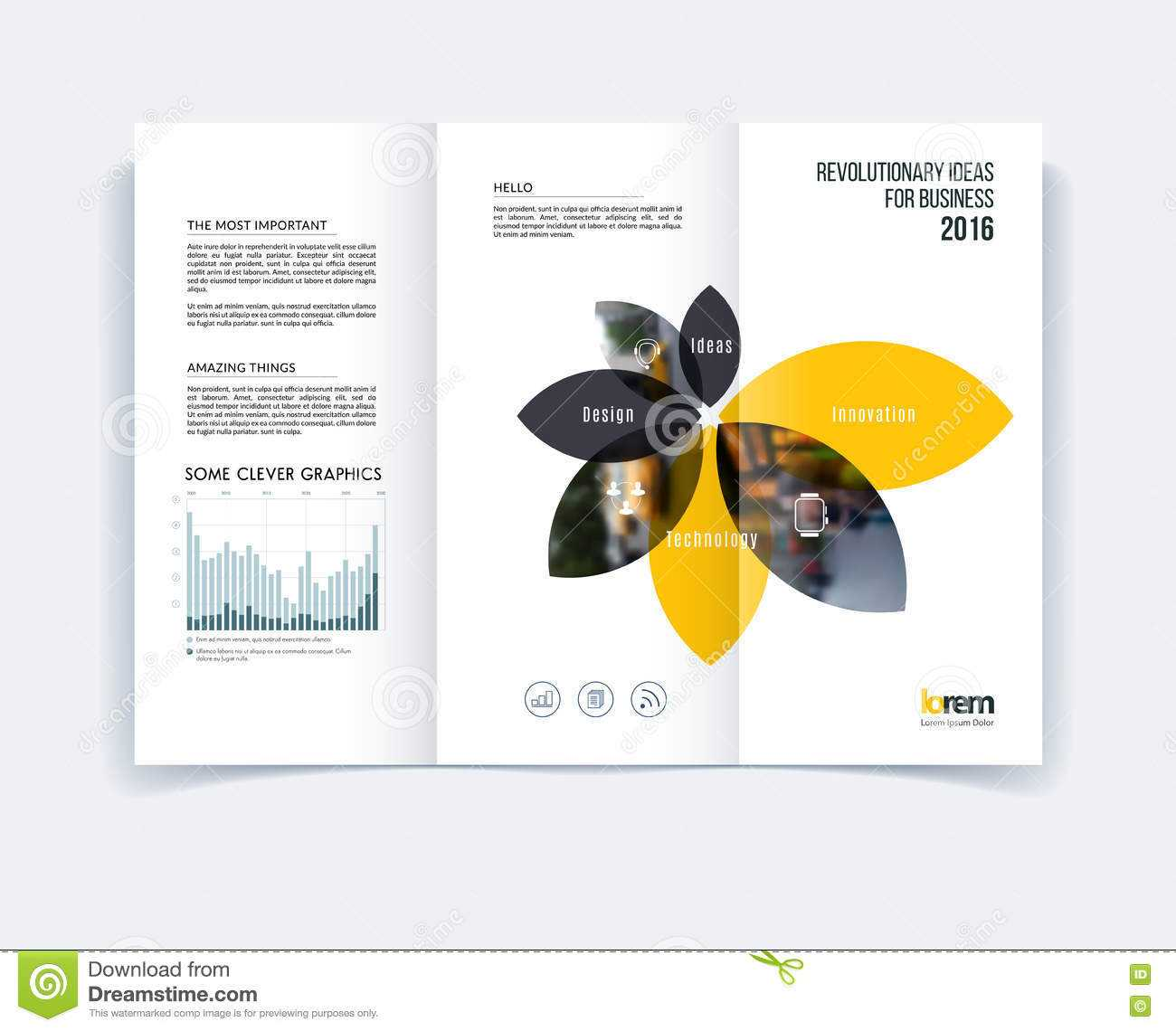 Tri Fold Brochure Template Layout, Cover Design, Flyer In A4 In Engineering Brochure Templates Free Download
