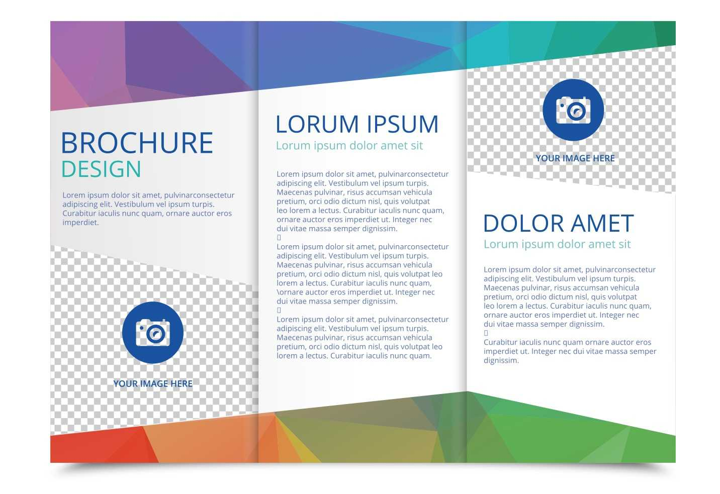 Tri Fold Brochure Vector Template - Download Free Vectors Pertaining To 3 Fold Brochure Template Free Download