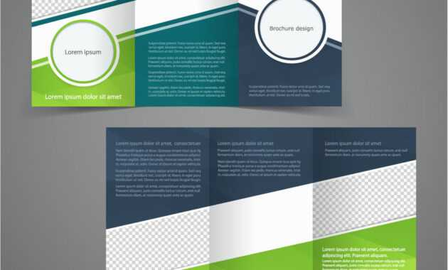 Tri-Fold Business Brochure Template Two-Sided with One Sided Brochure Template