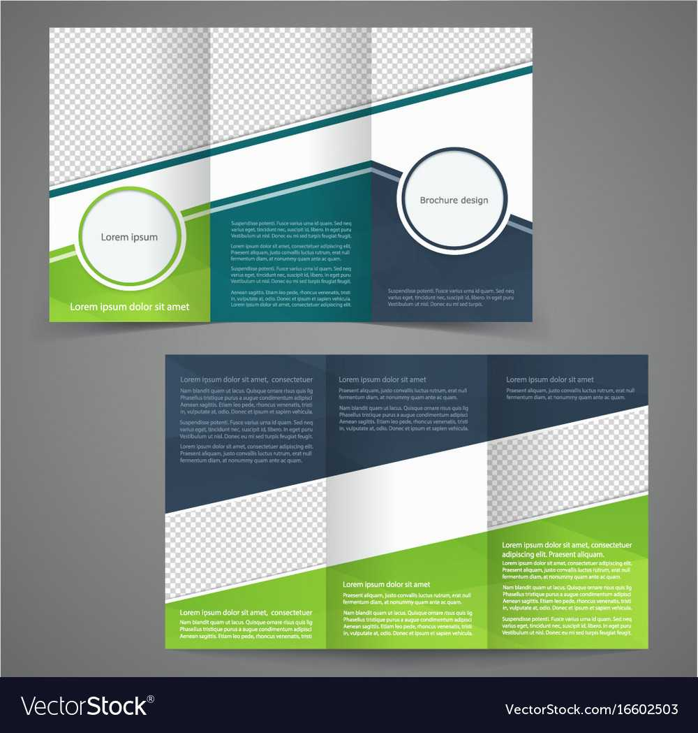 Tri Fold Business Brochure Template Two Sided With One Sided Brochure Template
