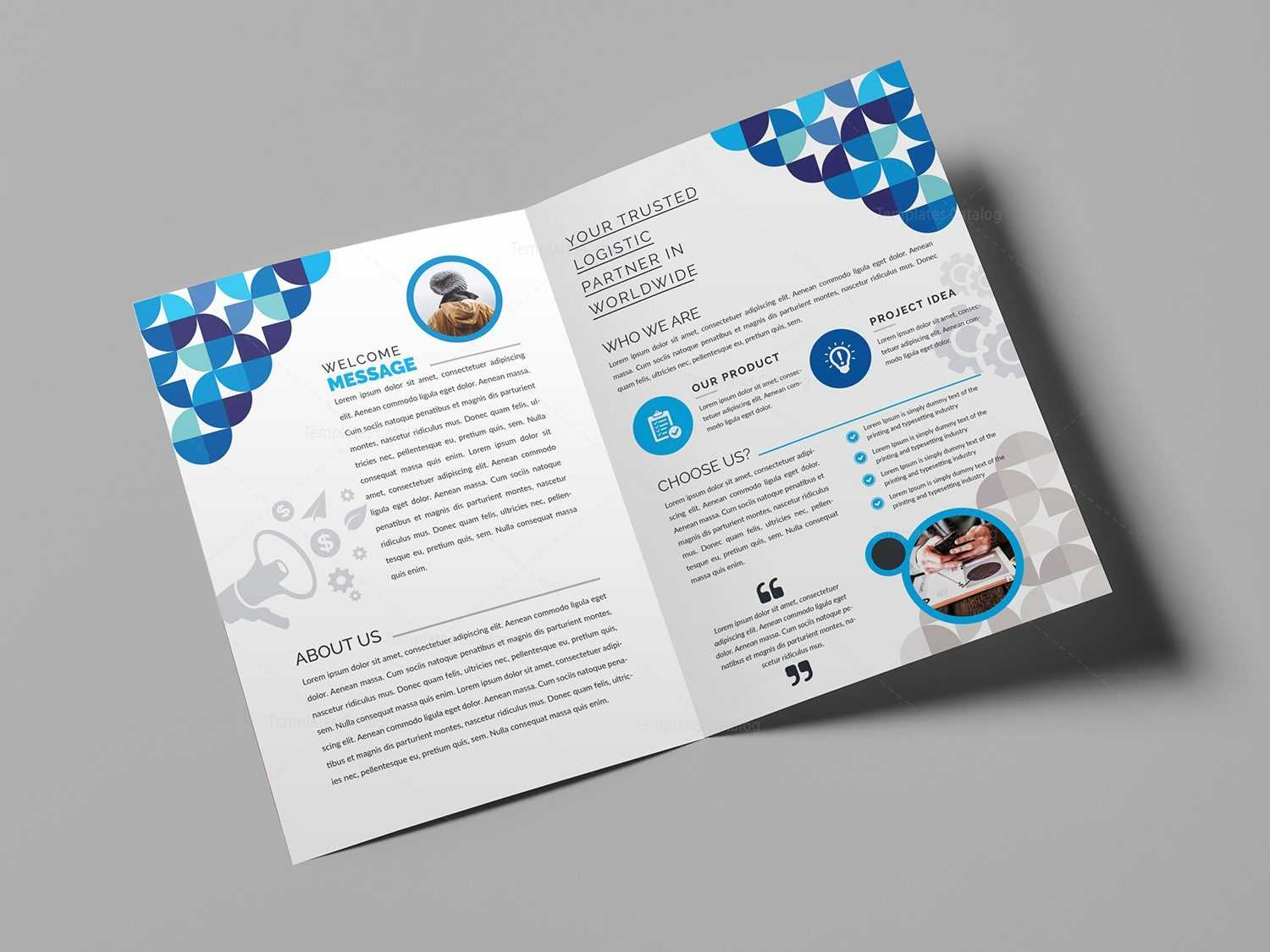 Two Fold Brochure Template Free - Colona.rsd7 Pertaining To 2 Fold Brochure Template Free