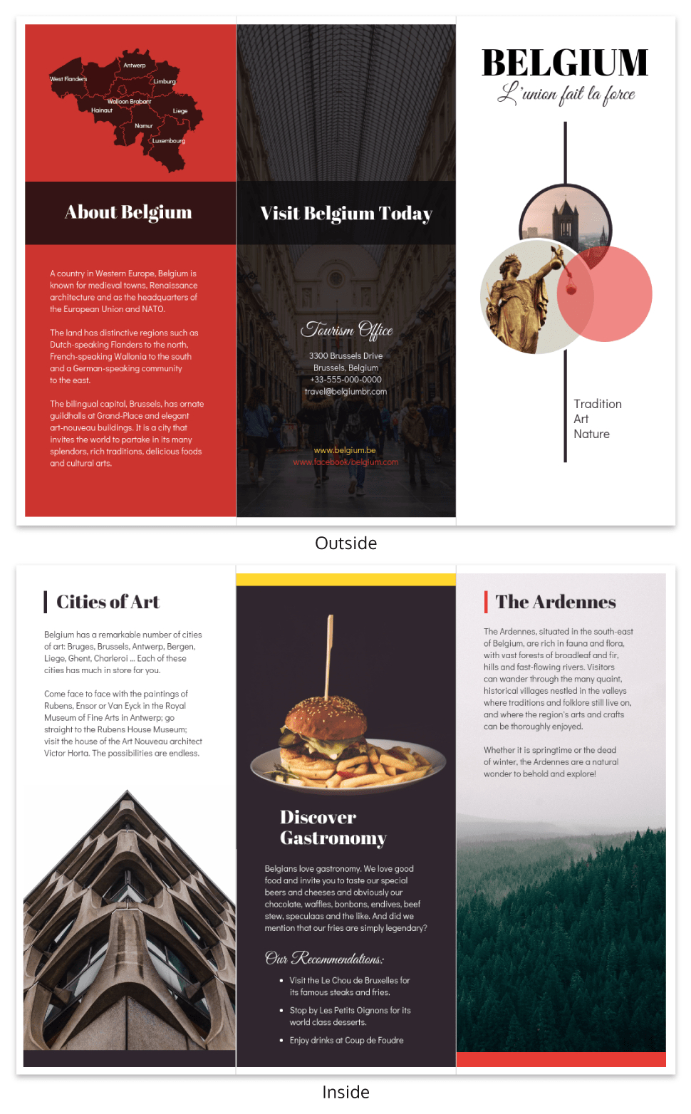 Vacation Travel Brochure Template Inside Country Brochure Template