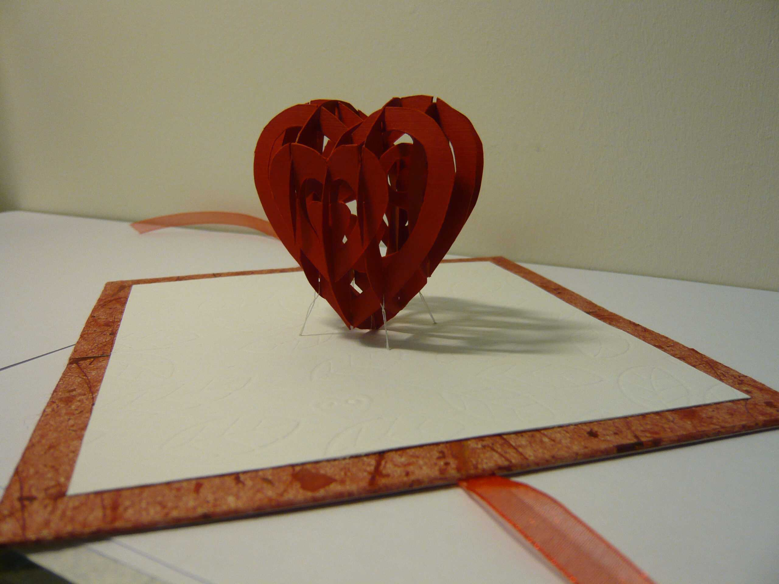 Valentine's Day Pop Up Card: 3D Heart Tutorial - Creative Throughout 3D Heart Pop Up Card Template Pdf