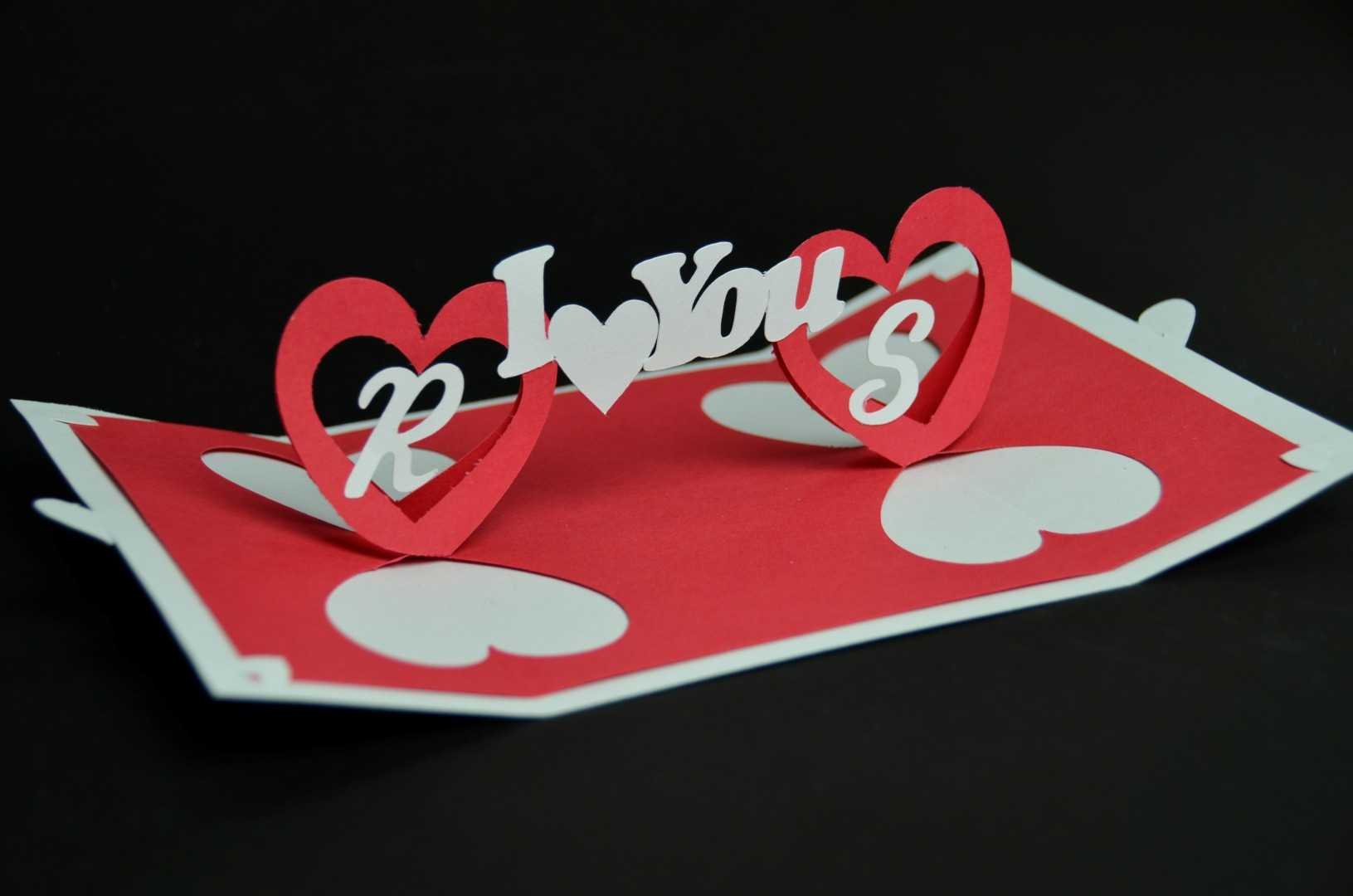 Valentine's Day Pop Up Card: Twisting Heart - Creative Pop Intended For Twisting Hearts Pop Up Card Template