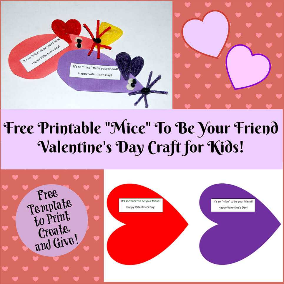 Valentine's Day Printable Card Crafts For Kids To Create With Valentine Card Template For Kids