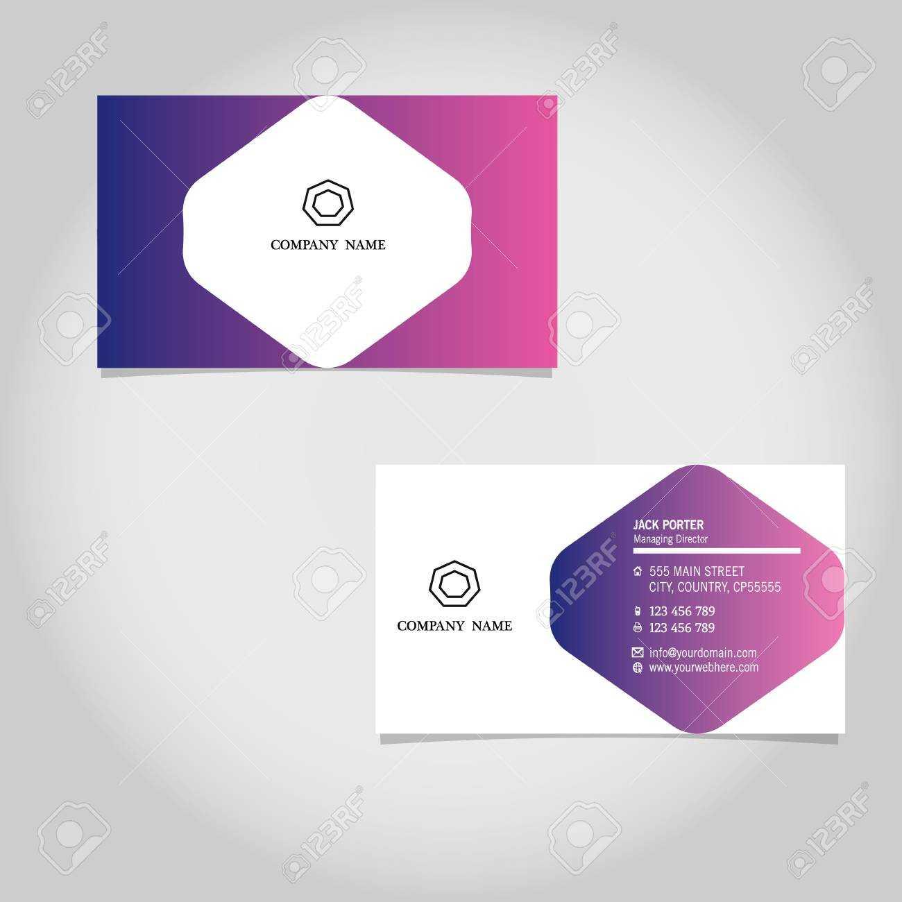 Vector Business Card Template Design Adobe Illustrator Inside Adobe Illustrator Business Card Template
