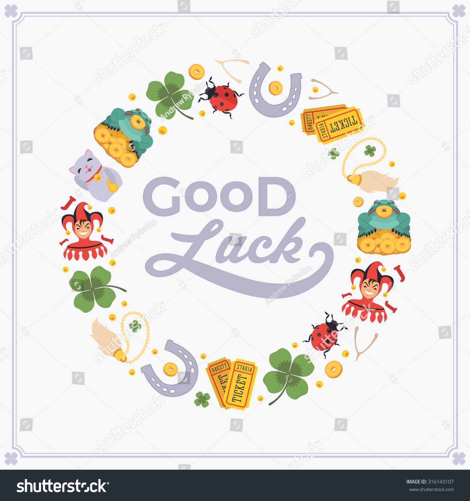 Vector Decorating Design Made Lucky Charms Stock Vector Inside Good Luck Card Templates