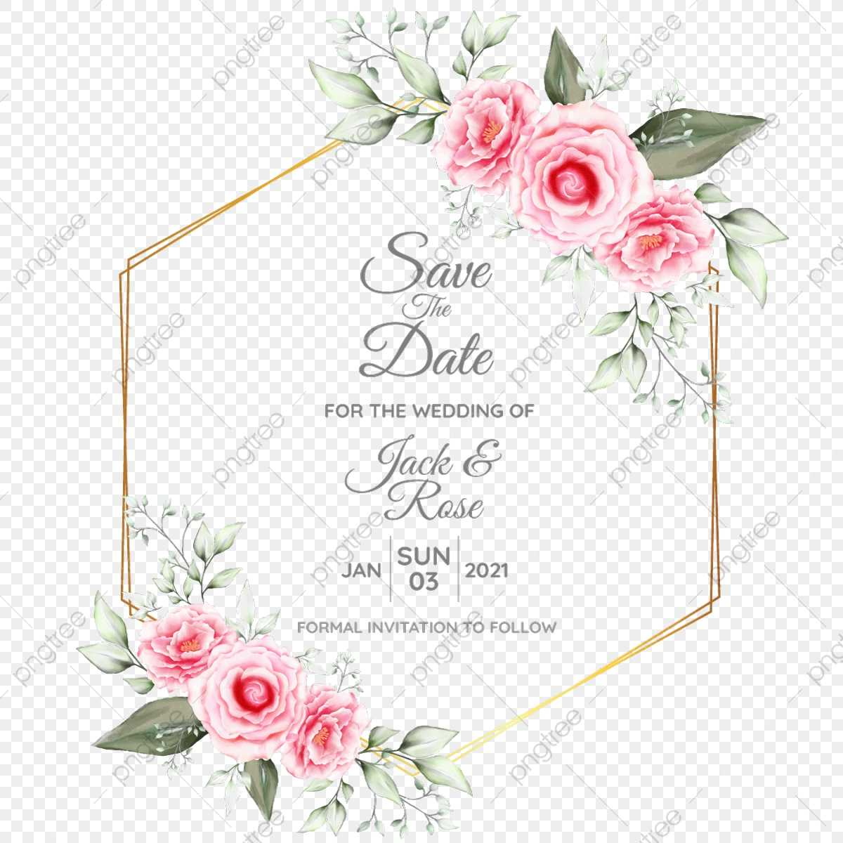 Watercolor Floral Cards Template With Geometric Golden With Sorry Card Template