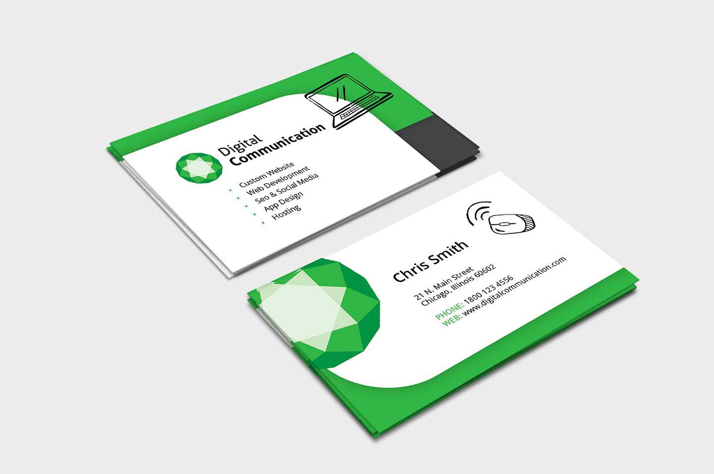 Web Designer Business Card Template In Psd, Ai & Vector With Regard To Web Design Business Cards Templates