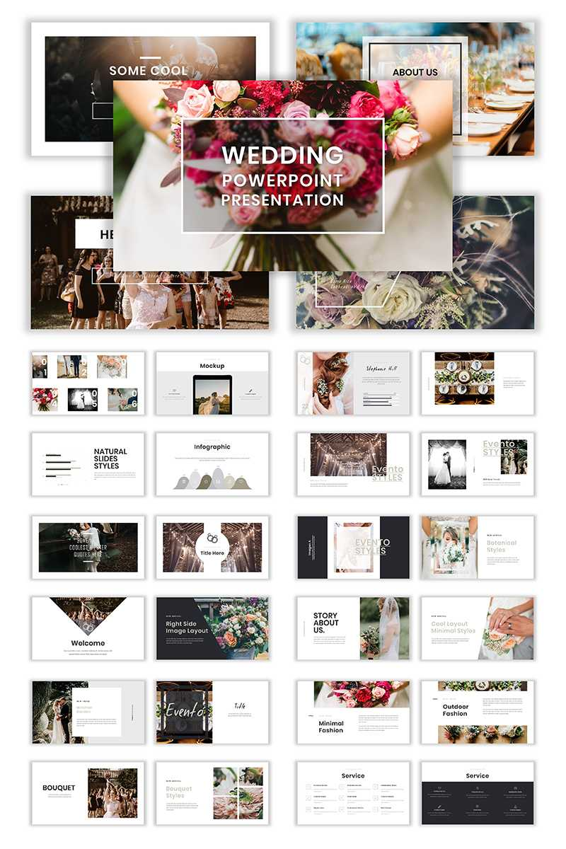 Wedding Album Ppt Templates | Templatemonster Within Powerpoint Photo Album Template