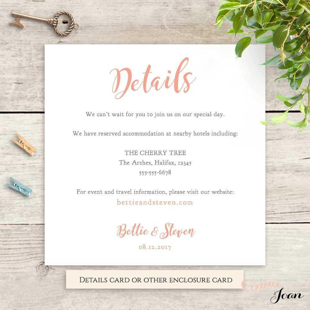 Wedding Hotel Information Card Template ] - Products 187 With Wedding Hotel Information Card Template