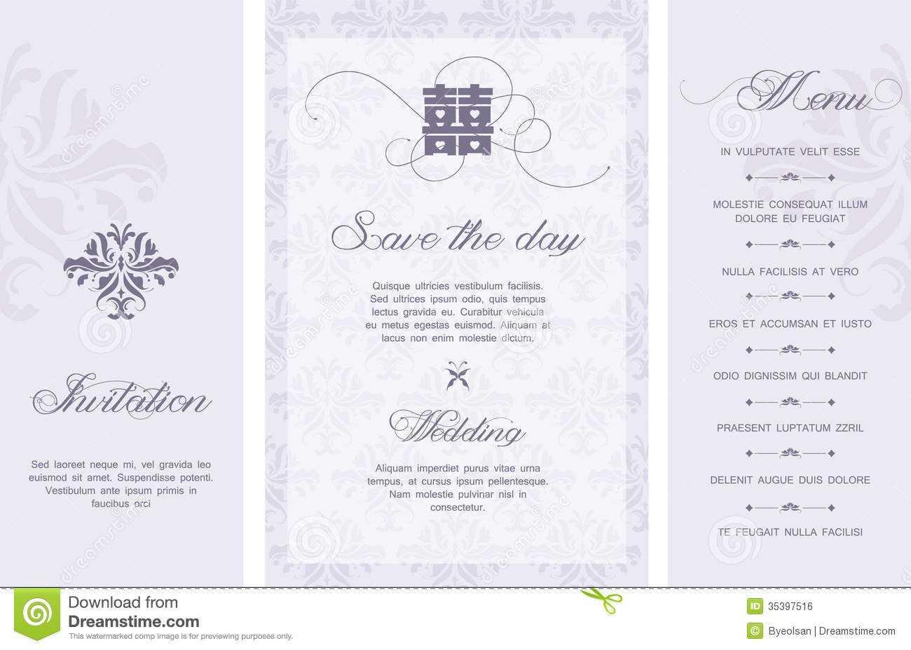 Wedding Invitation Stock Vector. Illustration Of Card – 35397516 Inside Free E Wedding Invitation Card Templates