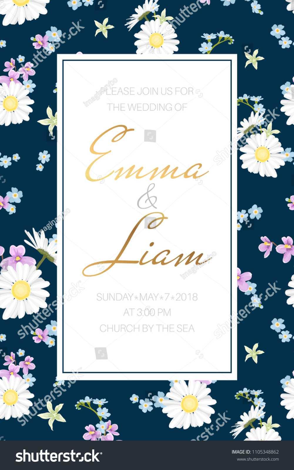 Wedding Marriage Event Invitation Card Template Stock Vector Regarding Event Invitation Card Template