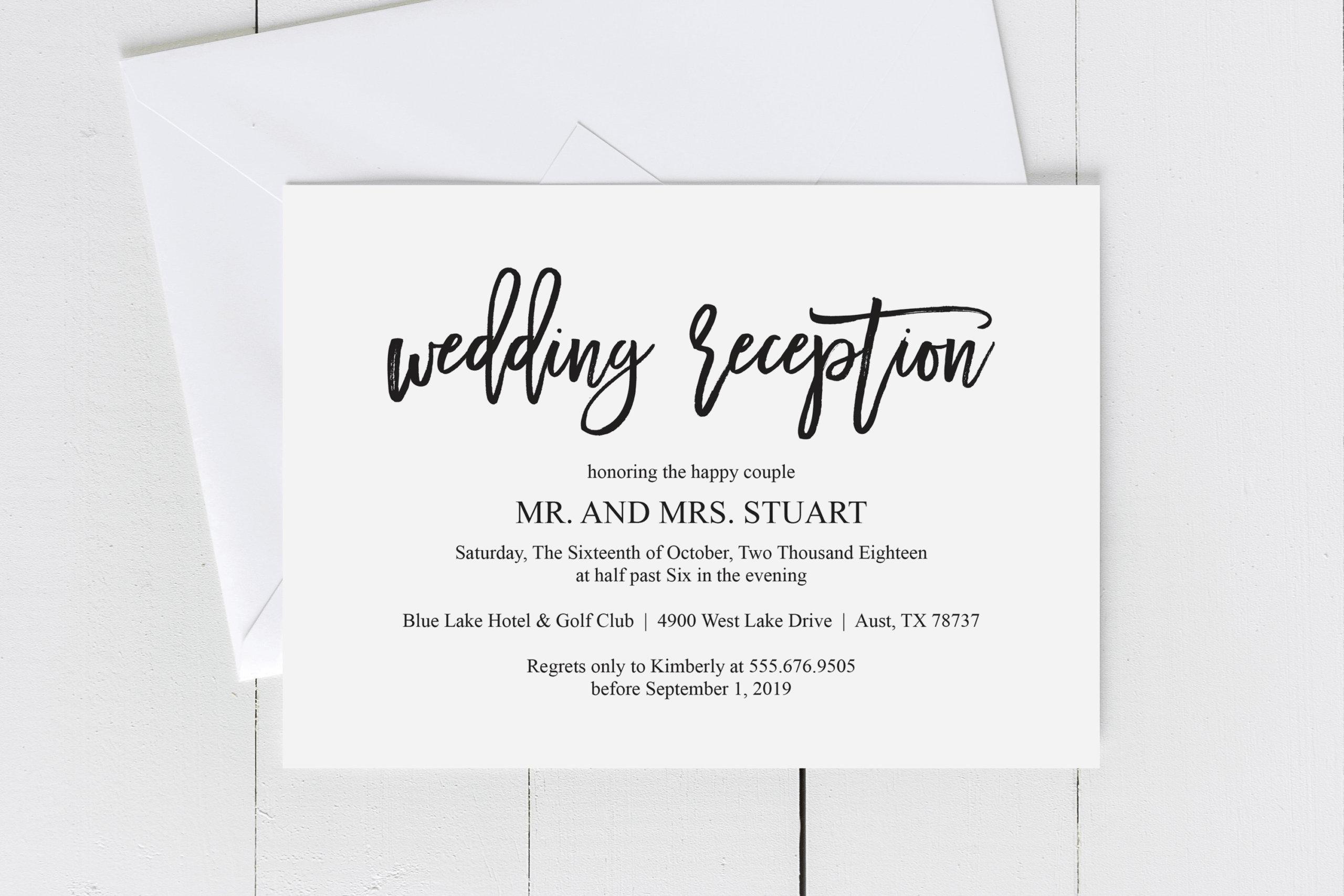 Wedding Reception Invite – Colona.rsd7 Inside Wedding Hotel Information Card Template