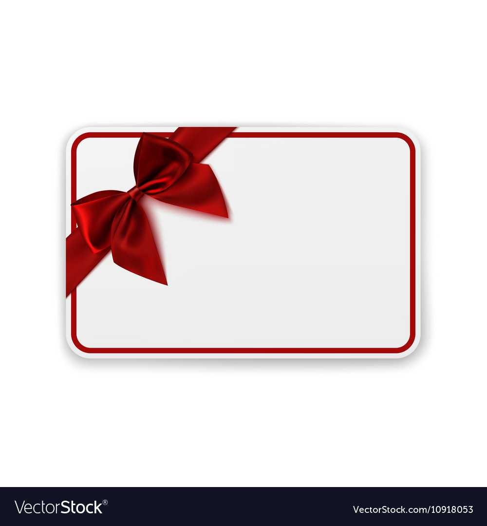 White Blank Gift Card Template Inside Present Card Template