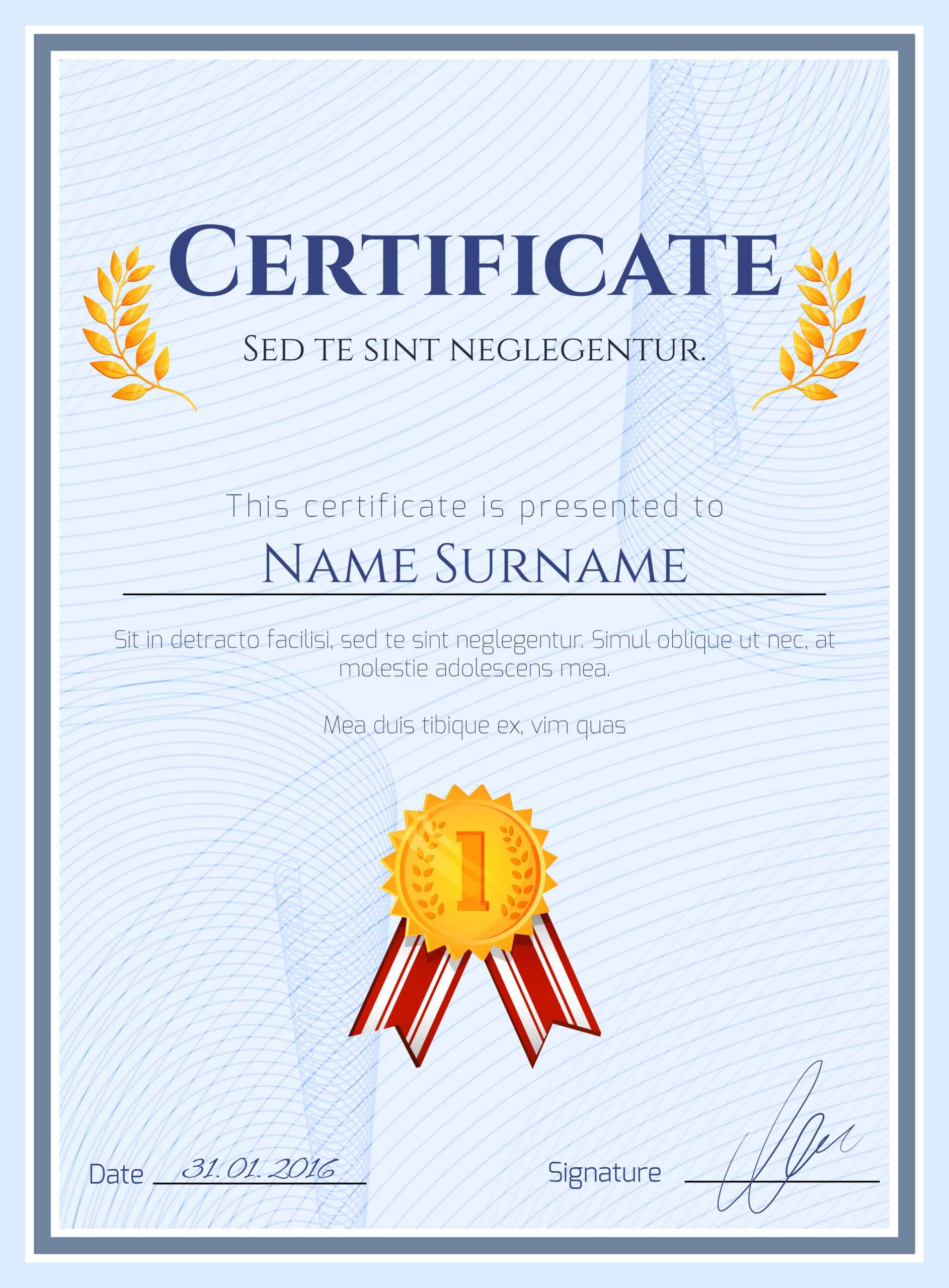 Winner Certificate With Seal – Download Free Vectors With Regard To Winner Certificate Template